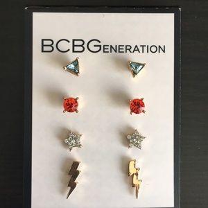 BCBGeneration Gold-Tone 4-Pc. Earring Set (V33)
